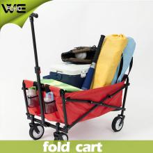 Chariot d'épicerie se pliant de bagage utilitaire coloré avec 4 roues