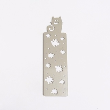 Wholesale Cheap Custom Laser Metal Bookmark with Logo