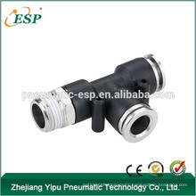 zhejiang ESP pneumatic male run tee plastic air hose fittings types