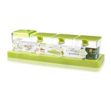 Conjunto de caixa de tempero de plástico para cozinha