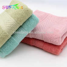 Vente chaude pas cher couleur unie bambou fibre bébé serviette de bain