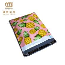 China Fabrik-modernes Logo, das kundenspezifischen rosa u. Gelben farbigen Ananas-Designer 10 x 13 Zoll-Großhandelspoly-Versandtaschen druckt