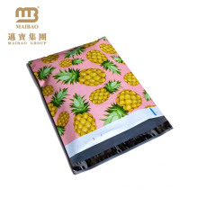 China Factory Fashionable Logo Printing Custom Pink & Yellow Colored Pineapple Designer 10 X 13 Inches Wholesale Poly Mailers