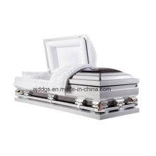 Caixão de prata e preto (tamanho grande)