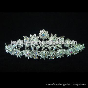 Boda / princesa a granel nupcial Coronas y tiaras cristalinas del desfile de la belleza del Rhinestone