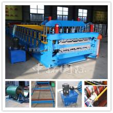 Metallüberdachungs-Blatt-Rolle, die Maschine für Verkauf bildet
