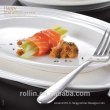 Vaisselle chinoise en porcelaine en céramique, assortiment de vaisselles en porcelaine, assiette en porcelaine de Noël set de dîner en céramique
