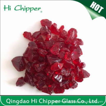 Decoration Crushed Dark Red Glass Chips