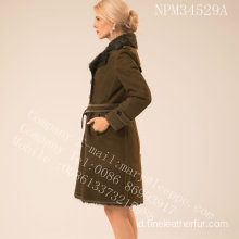 Wanita Reversibel Merino Shearling Coat In Winter