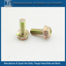 M8*25 Yellow Galvanized Flange Screw