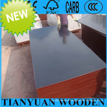 18mm Hot Sale Film Faced Plywood, 1220*2440mm Construction Formwork Plywood