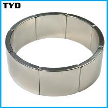 Chine NdFeB Magnet Manufacturer pour N42 Neodymium Arc Magnet