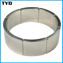 China NdFeB Magnet Manufacturer for N42 Neodymium Arc Magnet