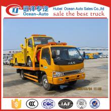 JAC 4x2 flat cama remolque camión de recuperación de la cama / plana para la venta