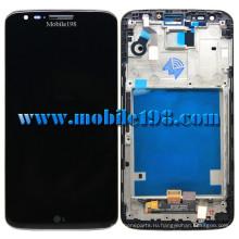 Черный ЖК-дисплей для LG G2 в бумажник d802 Дигитайзер с передней части корпуса