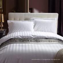 Linge de lit en coton à rayures de 3 cm Sateen