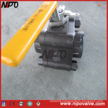 1500lb Three Pieces NPT Threaded Ball Valve