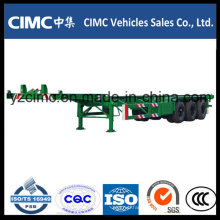 Cimc 40FT 3 Axle 40ton Gooseneck Skeleton Container Trailer