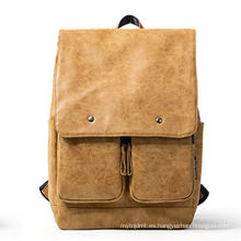 Genuine full grain leather pattern outdoor custom backpack for man