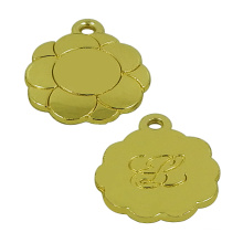 Gold Sun Flower Metal Jewelry Tag