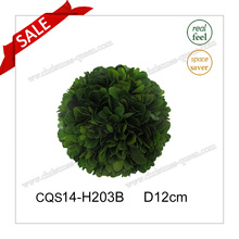 D12cm Fresh Leaves Factory Sale Boxwood Ball