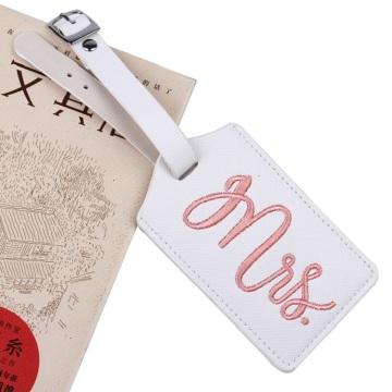 Etikett Stickerei Gepäckanhänger Tasche Travel Name ID