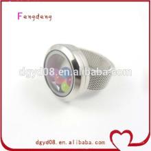 2014 más nuevos anillos de plata del acero inoxidable del diseño