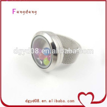 Newest Round 316 stainless steel floating locket rings jewelry wholesale