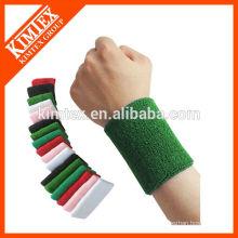 2015 Mens Großhandel bunte Sport Frottee Baumwolle benutzerdefinierte Handgelenk Schweißbänder