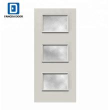 Fangda diseño de puerta única de foto de acero inoxidable de bajo precio moderno