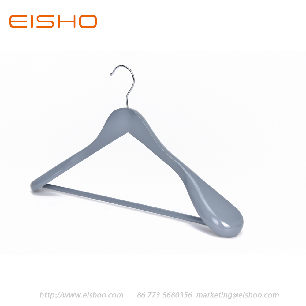 6 5 Eisho Grey Wood Suit Coat Hanger
