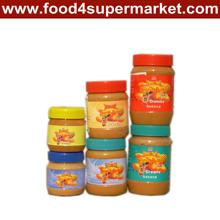 Heißer Verkauf chinesische cremige und knusprige Erdnussbutter in der Haustier-Flasche mit 227g, 340g, 510g und 1kg
