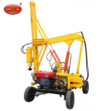 Photovoltaic Solar Power Hydraulic Screw Pile Driver