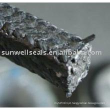 Produto de embalagem de grafite com cantos de fibra de carbono