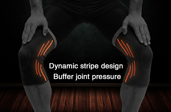 buffer joint pressure knee pad