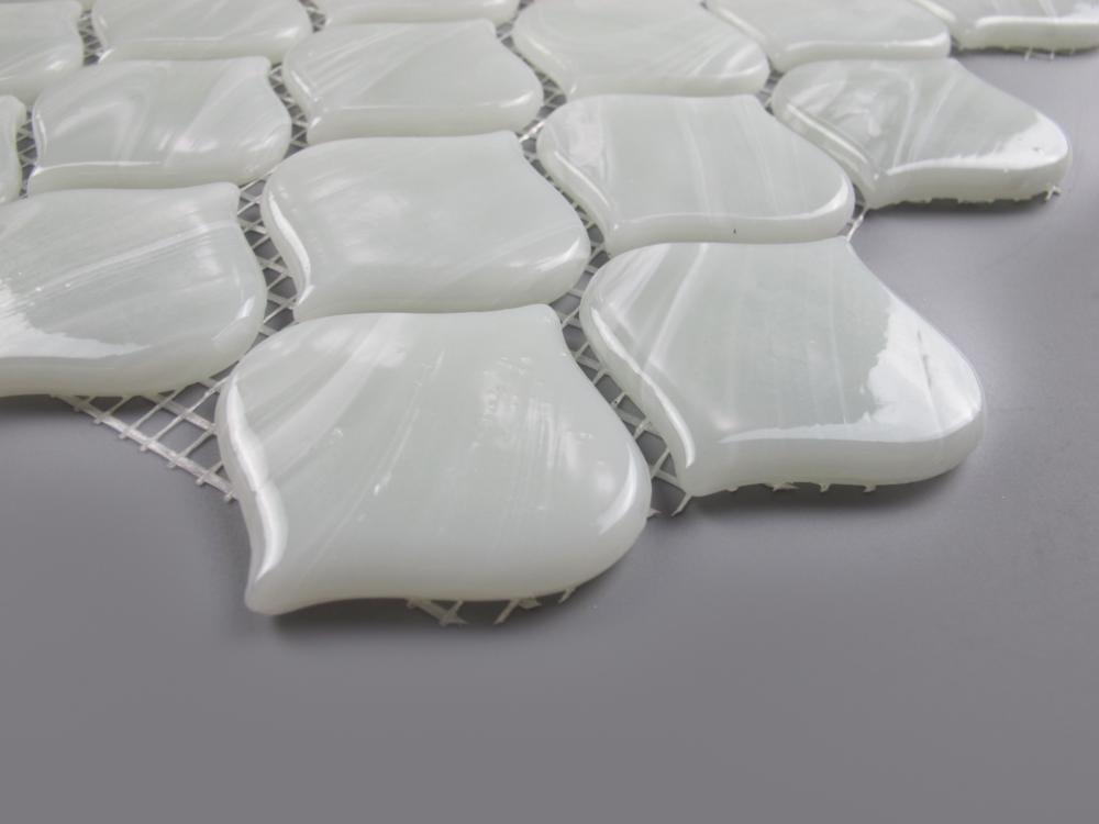 Rice White Arabesque Detail