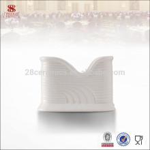 Boîte de porte-serviettes en porcelaine blanche de haute qualité