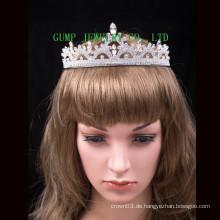 Braut Hochzeit Tiara mit Kristall glänzende Krone