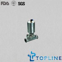 Válvula neumática de diafragma de acero inoxidable sanitaria