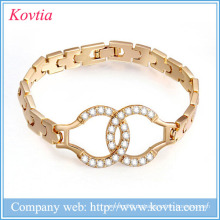 Runde Steine Design Armband Liebe Armband 1 Gramm Goldschmuck verdienen Geld Online Handschellen