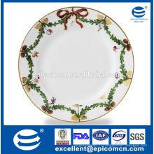 2015 produits chauds Plaques de porcelaine de décoration de couronnes de noel pour Noël