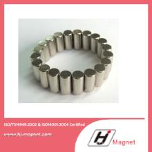 Ímã de NdFeB cilindro personalizado de alta qualidade para Motor