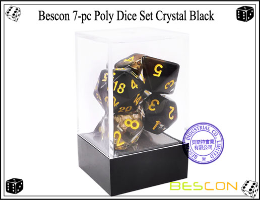 Crystal Black Dice Set-3