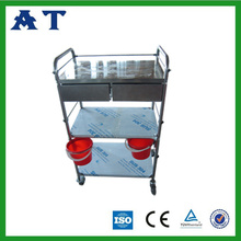 Acero inoxidable Dressing trolley