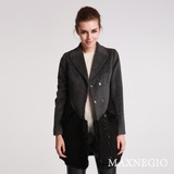 Autumn and Winter Wool Trench Outerwear Women Clothing (1-52646)