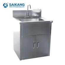 A lavagem cirúrgica de aço inoxidável do hospital SKH036-101 esfrega o dissipador
