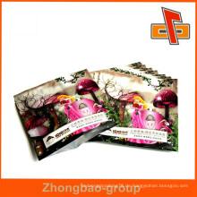Kundenspezifischer Druck Plastikseitenbeutel für rosafarbene Gesichtsmaskenverpackung mit Folie innen