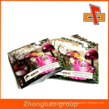 Custom printing plastic side sealing bag for pink facial mask packaging with foil inside