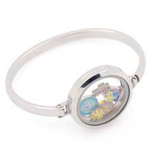 New arrival stainless steel silver plain lockets bracelet bangles