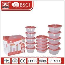 ¡Nuevo! Envase de alimento plástico microondas electrodomésticos (15pcs)